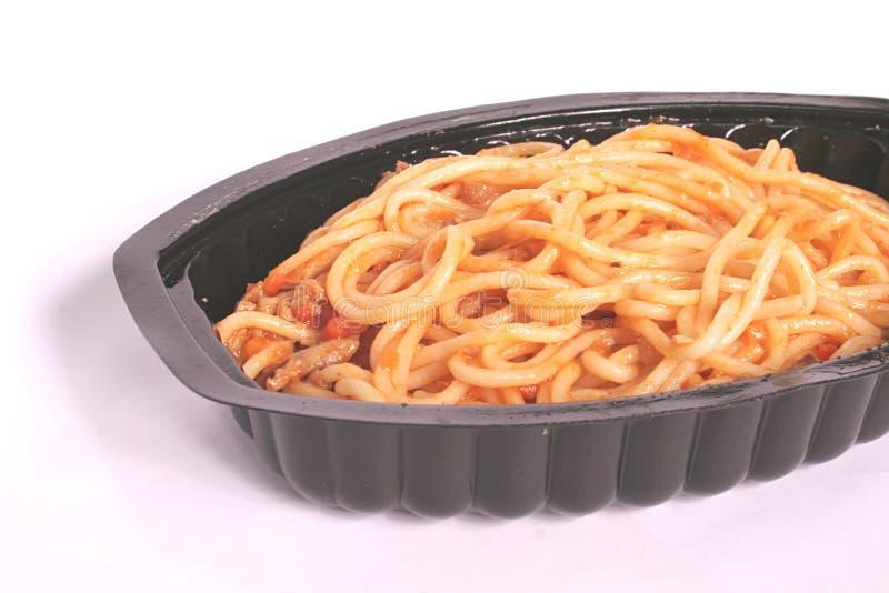 Spaghetti con la salsa di colore rosso di Bolognaise del pomodoro fotografie stock