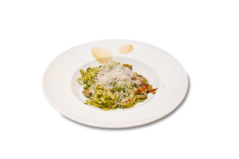 Spaghetti con le verdure fotografia stock libera da diritti