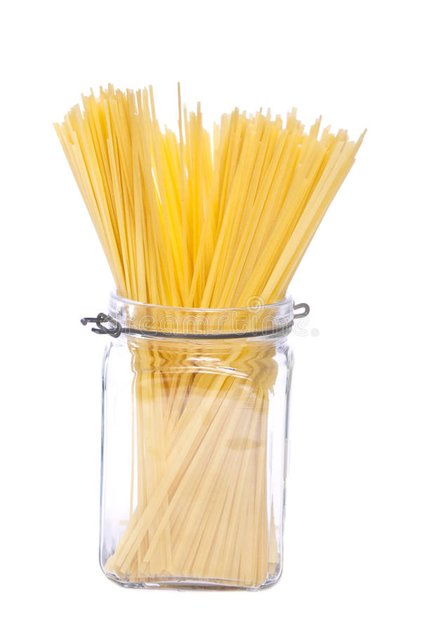 Spaghetti dans le choc image stock