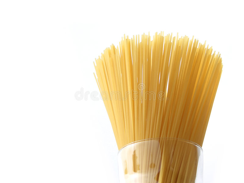 Spaghetti dans une glace images stock
