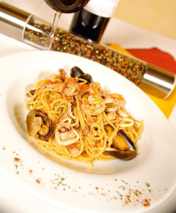 Spaghetti dei frutti di mare immagine stock libera da diritti