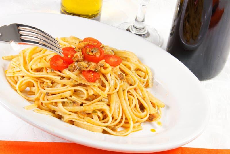 Spaghetti dei molluschi immagini stock