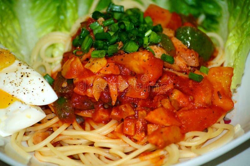 spaghetti faits maison image libre de droits