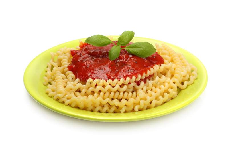 Download Spaghetti on green plate stock photo. Image of food, green - 11165446