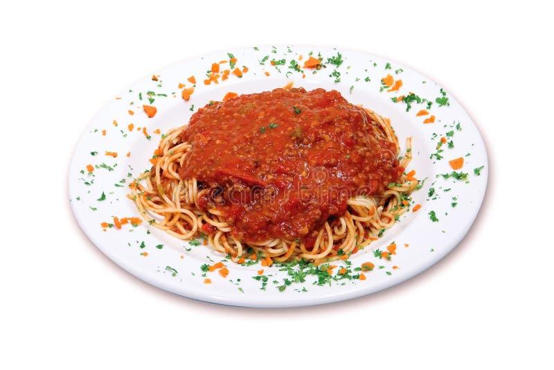 Spaghetti het Italiaans stock foto's