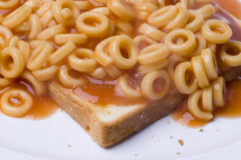 Spaghetti Hoops royalty free stock photos