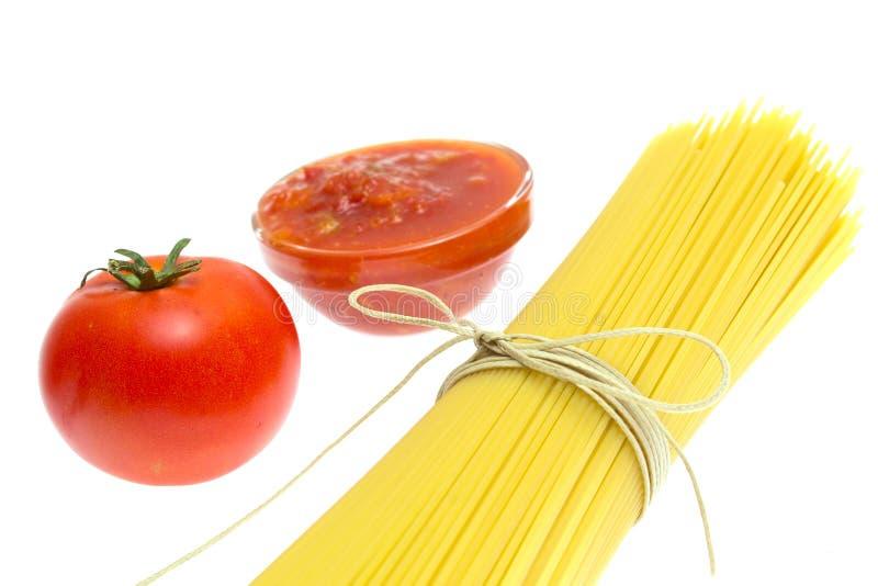 Spaghetti Of Isolated On White Royalty Free Stock Photo