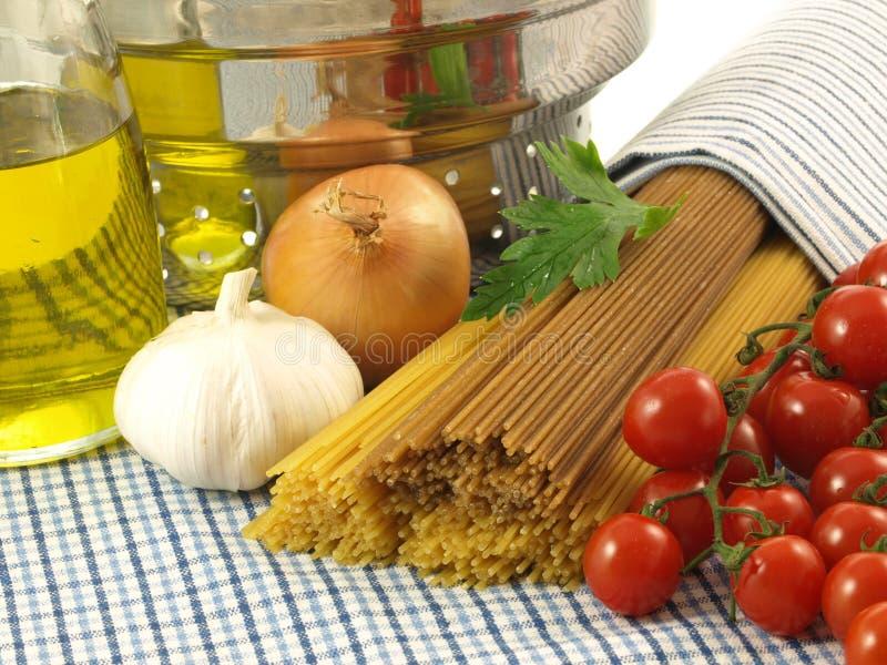 Spaghetti- italian dish royalty free stock image