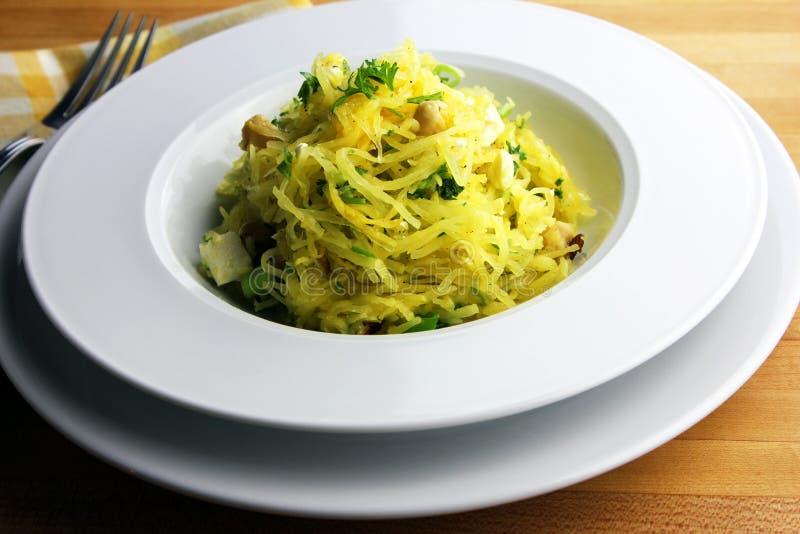 Spaghetti kabaczek fotografia stock