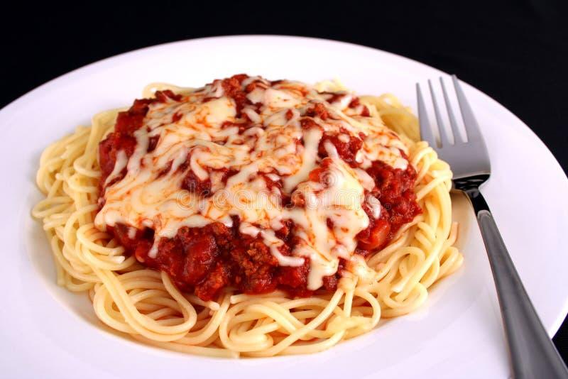 Spaghetti meal 2 royalty free stock photo