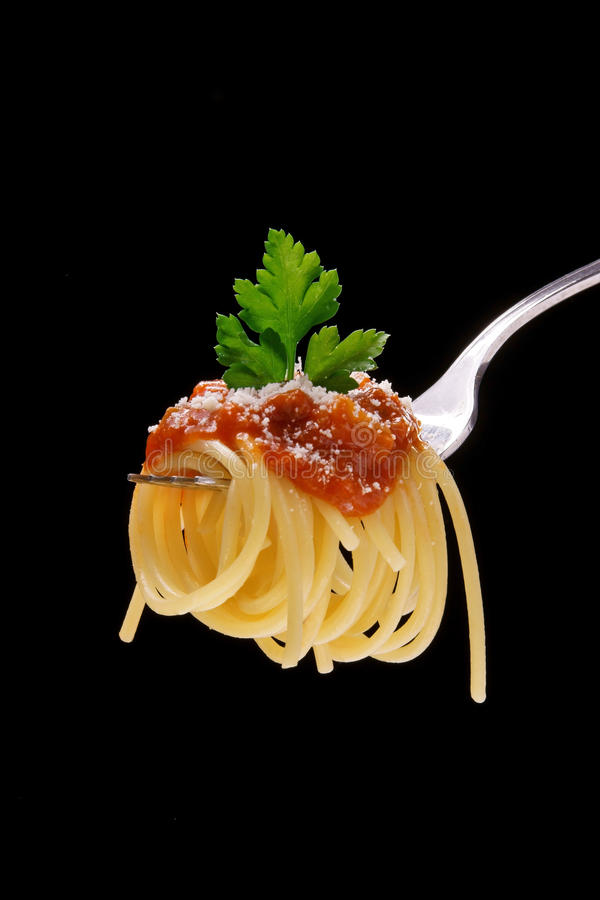 Download Spaghetti With Meat Sauce And Parmesan Cheese Stock Photo - Image: 22116668