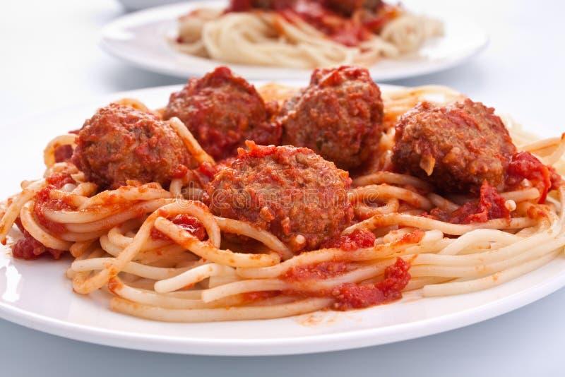 Download Spaghetti With Meatballs In Tomato Sauce Stock Photo - Image: 9789064