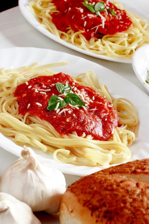 spaghetti na kolację fotografia royalty free