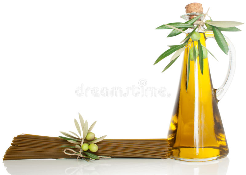 Download Spaghetti and olive oil stock photo. Image of pasta, background - 27431502