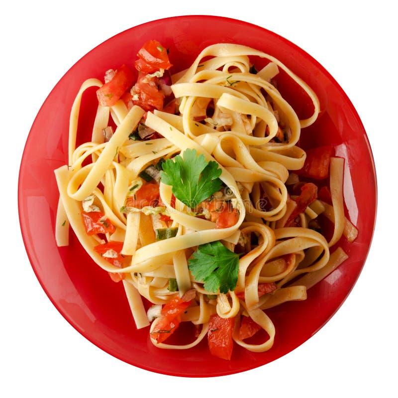 Download Spaghetti op een plaat stock foto. Afbeelding bestaande uit achtergrond - 114225884