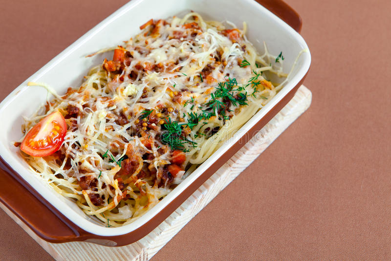 Spaghetti Pasta Bolognese royalty free stock photos