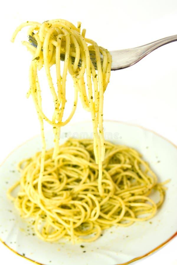 Spaghetti And Pesto Royalty Free Stock Photography