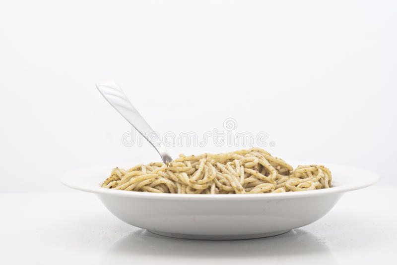 Download Spaghetti with pesto stock photo. Image of cook, cooking - 26175268