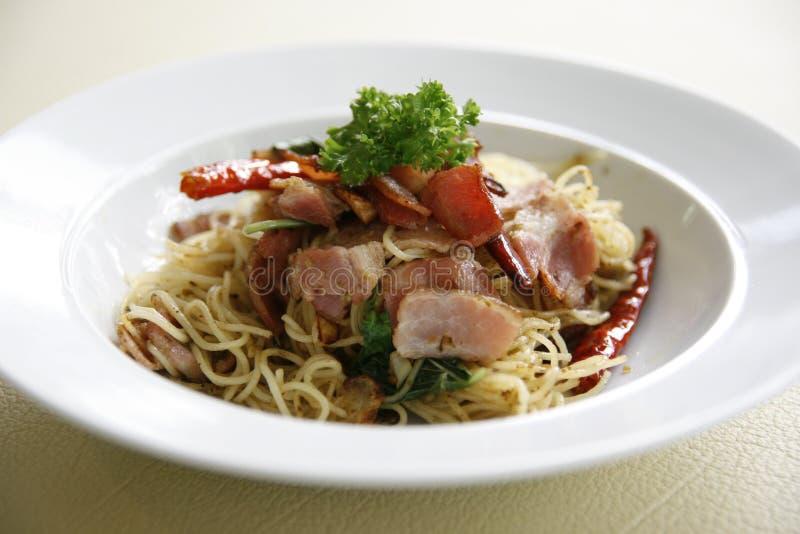 Spaghetti Pesto royalty-vrije stock afbeeldingen