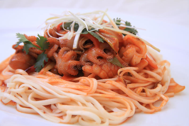 Download Spaghetti seafood stock image. Image of sauce, food, pepper - 19774209