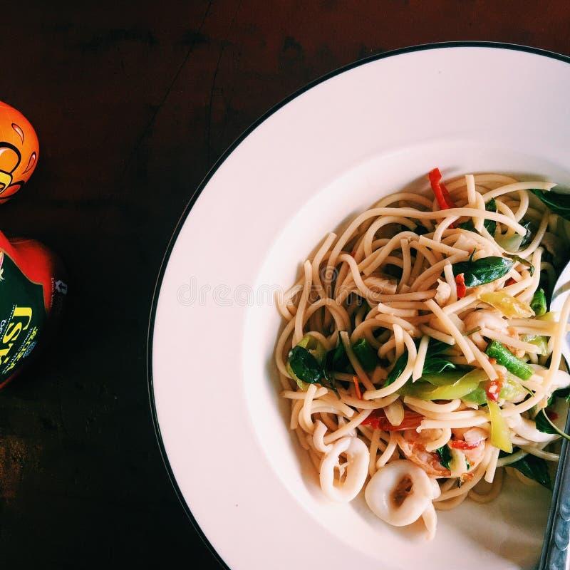 Spaghetti tailandesi fotografia stock