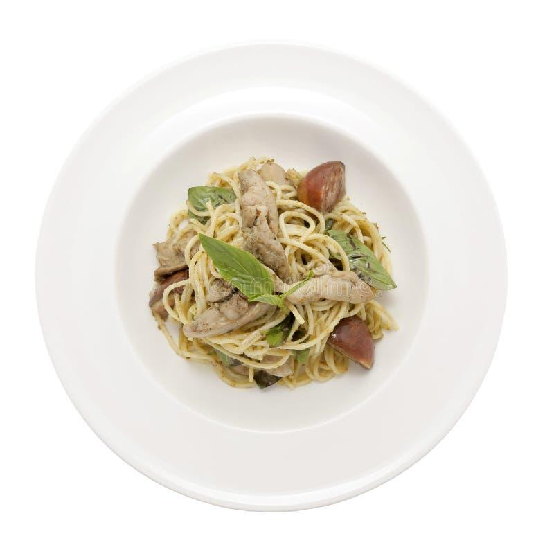 Spaghetti thaïlandais de cari de vert de style photographie stock libre de droits