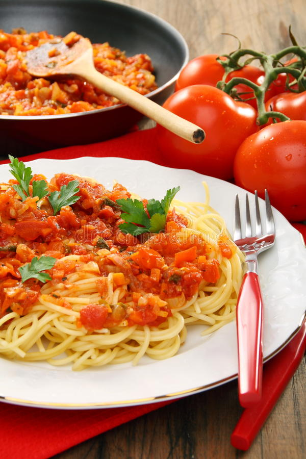 Download Spaghetti With Tomato Sauce. Stock Image - Image: 22526983