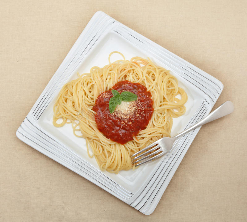 Download Spaghetti With Tomato Sauce Stock Image - Image: 25383411