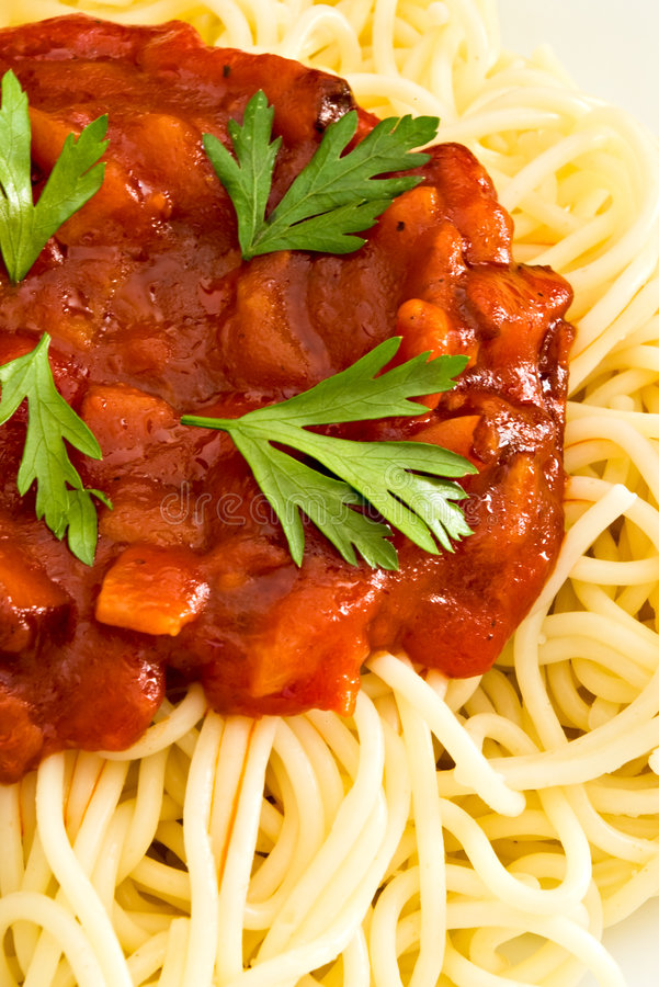 Download Spaghetti With Tomato Sauce Stock Image - Image: 6023615