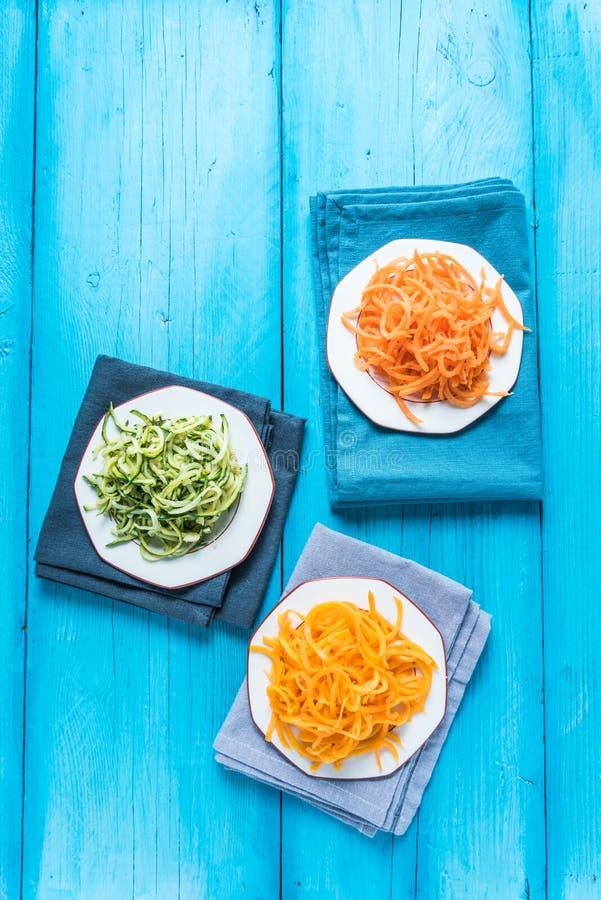 Spaghetti végétariens et sains images libres de droits