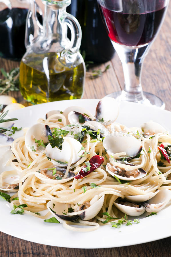 Spaghetti Vongole royalty free stock photos