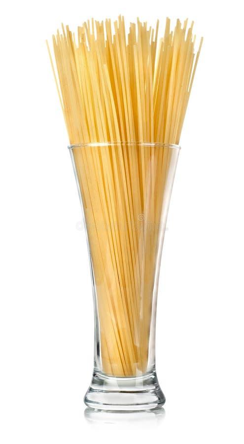 Spaghetti w szkle obrazy royalty free