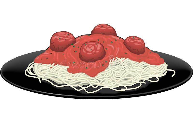 Spaghetti wektoru ilustracja ilustracja wektor