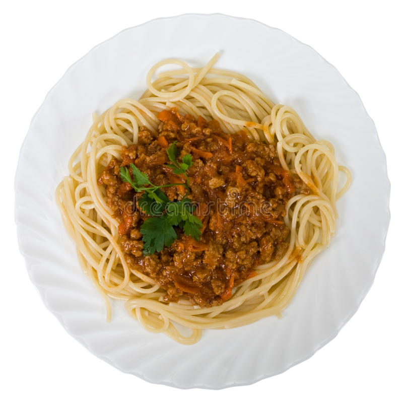 Free Spaghetti With Meats Royalty Free Stock Photo - 13456715