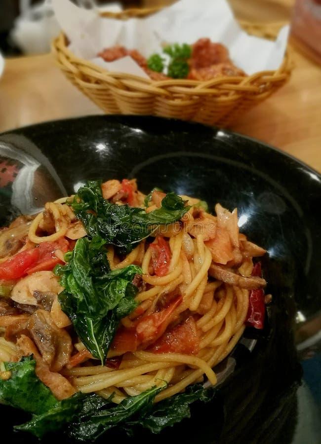 Spaghettis Thailand stockbilder