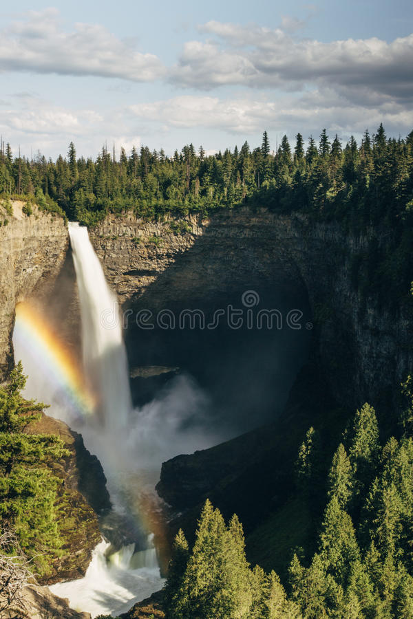 Spahat Falls in Wells Gray Provincial Park stock photography