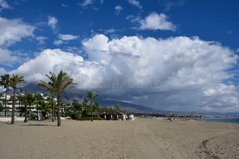 Spain, Andalusia, Marbella, Puerto Banus Beach stock photo
