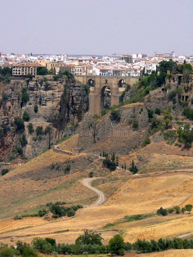 Spain - Andalusia - Ronda - Puente Nuevo royalty free stock photo