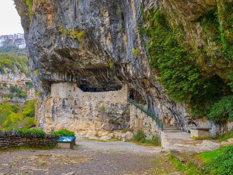 spain Aragon O parque nacional de Ordesa e de Monte Perdido A garganta de Anisclo fotografia de stock royalty free