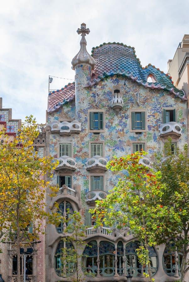 Casa Batllo, House built by Antonio Gaudi, Spain Barcelona. Spain Barcelona Casa Batllo, Antonio Gaudi royalty free stock images