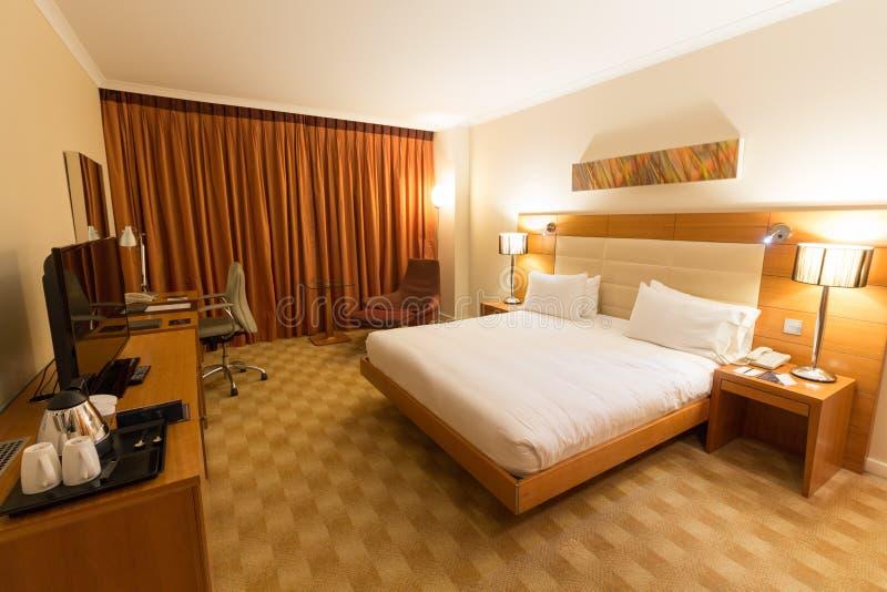 Spain, Barcelona - February 10, 2016: Hotel room of Hilton Diagonal Mar Barcelona, Spain.  stock image