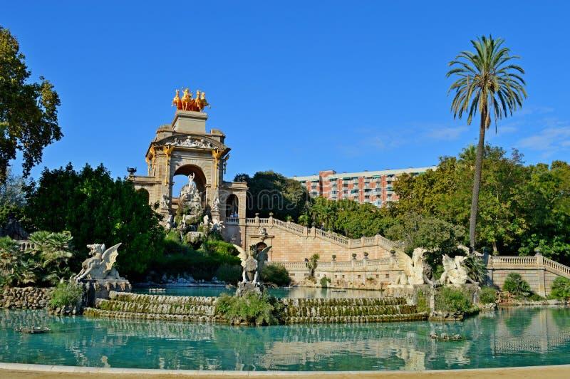 Spain Barcelona Fountain royalty free stock photos