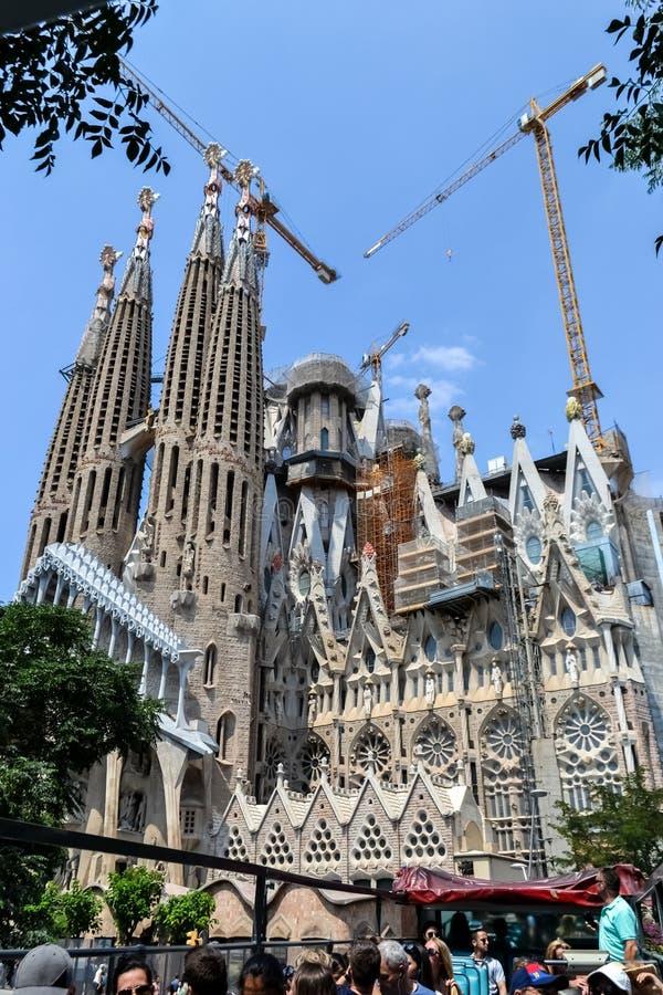 Spain Barcelona July 2017. tourist walking bus, sightseeing. royalty free stock photos