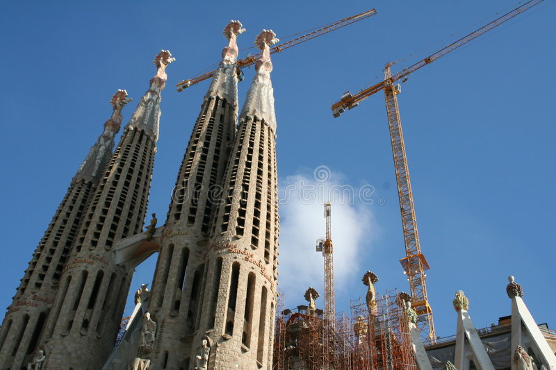 Spain. Barcelona. Sagrada Famiglia Cathedral royalty free stock photo