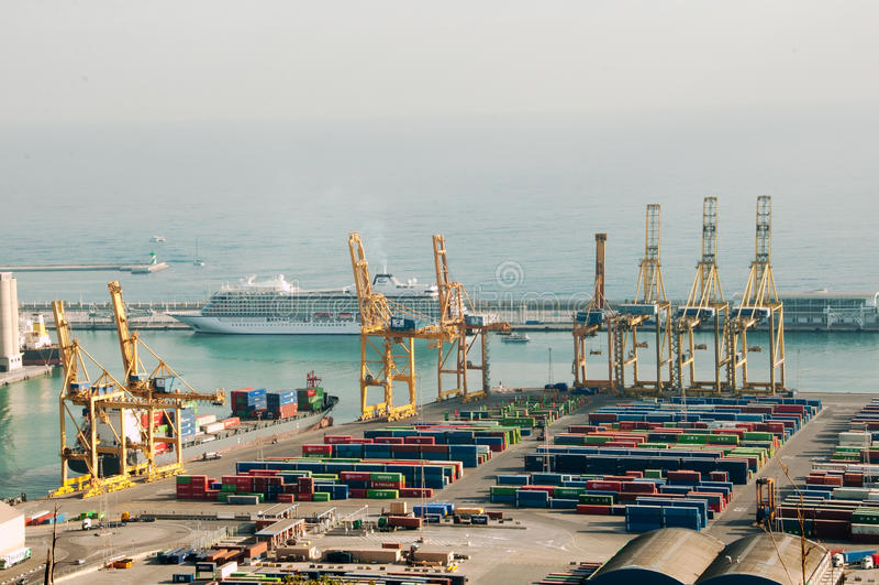 Spain. Barcelona. Sea port. stock images