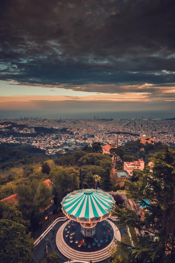 Spain Barcelona Tibidabo stock photography