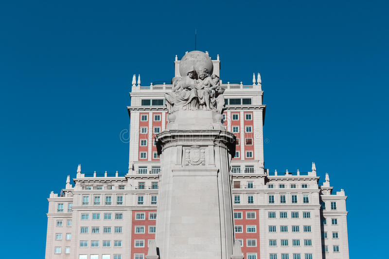 Spain Building in Madrid royalty free stock photo