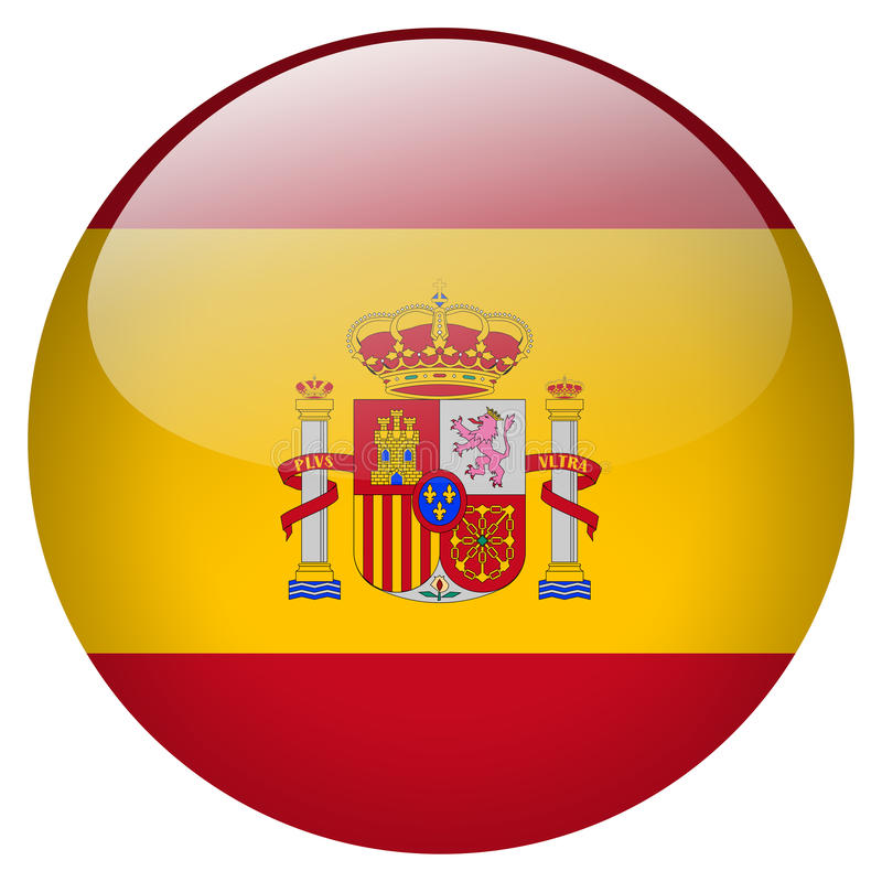 Spain Button. On white background royalty free illustration