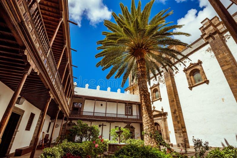 spain canaria gran Den forntida staden av Las Palmas arkivfoto