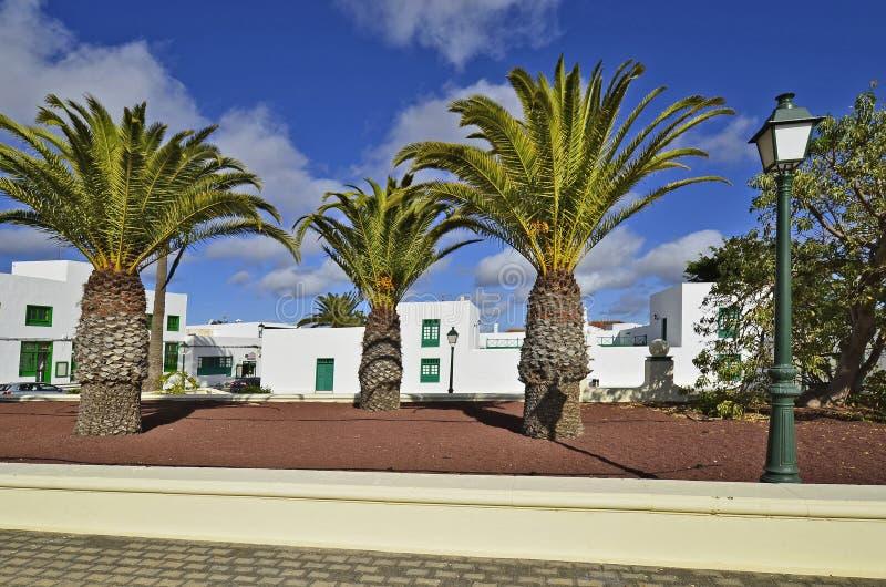 Spain, Canary Island. Yaiza village in Lanzarote, Canary Island, Spain stock photo